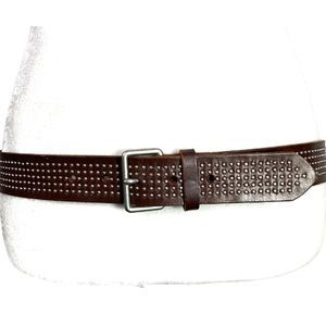 Banana Republic Leather Belt Studded Brown - M